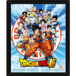 Cuadro 3D Dragon Ball Super: Goku and the Z Fighters