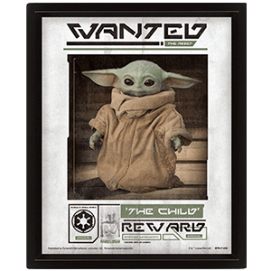 Cuadro 3D Star Wars The Mandalorian: Wanted The Child
