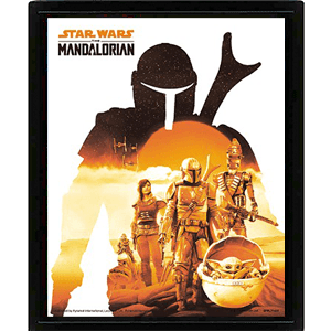 Cuadro 3D Star Wars The Mandalorian: White Sunset