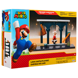 Playset Nintendo: Castillo De Lava