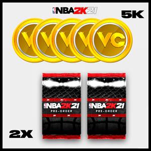 NBA 2K21 - DLC 5.000 VC + 2 Pack Mi EQUIPO XSX