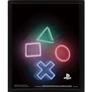 Cuadro 3D Playstation Symbols