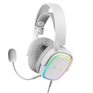 MARS GAMING MHAX WHITE RGB HEADPHONES