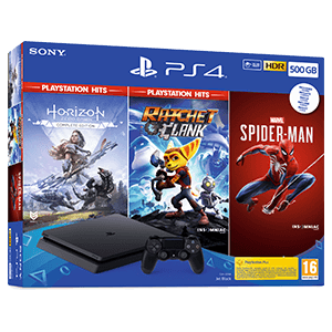 Playstation 4 Slim 500GB + Horizon Zero + Marvel´s SpiderMan + Ratchet&Clank
