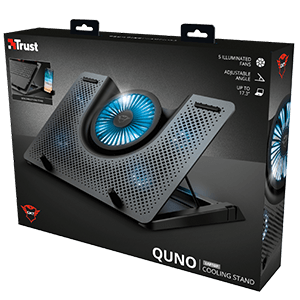 Trust GTX 1125 Quno 17'' LED Azul - Base Refrigeradora Gaming