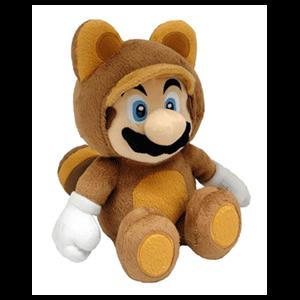 Peluche Super Mario: Mario Tanooki 21cm