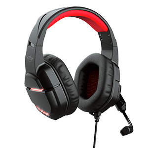 Trust GXT 448 Nixxo  USB LED Rojo PC-PS4-PS5 - Auriculares Gaming