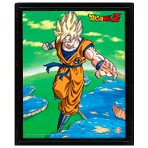 Cuadro 3D Dragon Ball: Goku Super Saiyan (REACONDICIONADO)