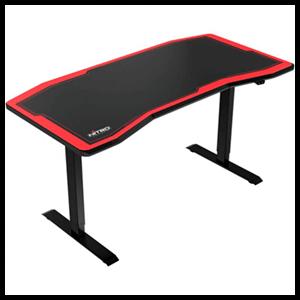 Nitro Concepts D16E Carbon Electrica Negro-Rojo - Mesa Gaming