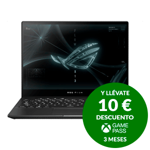 ASUS ROG Flow X13 GV301QH-K6069T - Ryzen 7 5800HS - GTX 1650 - 16GB -512GB SSD - 13,4'' Tactil - W10 - Ordenador Portátil Gaming