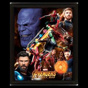Cuadro 3D Marvel: Vengadores Infinity War Avengers United (REACONDICIONADO)