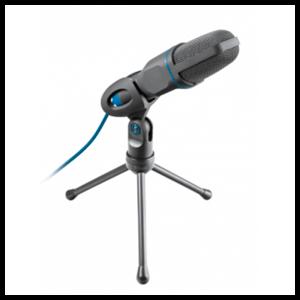 Trust Mico Micrófono para PC Negro, Azul - Reacondicionado