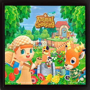Cuadro 3D Animal Crossing: Verano y Primavera
