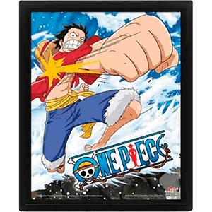Cuadro 3D One Piece: Gum Gum Pistol