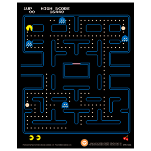 Cuadro 3D Pac-Man: Laberinto