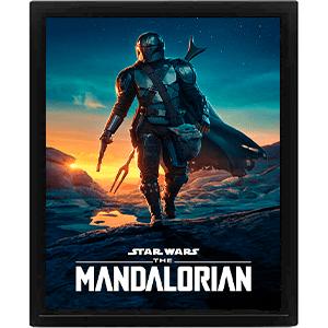Cuadro 3D Star Wars The Mandalorian: Nightfall