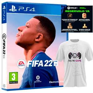 FIFA 22 PS4+Camiseta Talla S+DLC