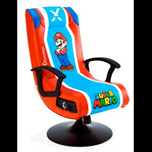 Silla Gaming X Rocker Nintendo Super Mario + Altavoces 2.1