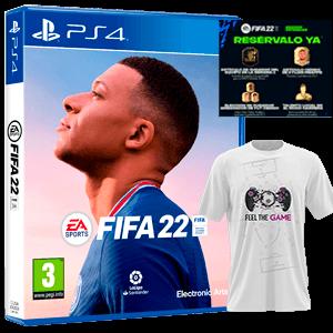 FIFA 22 PS4+Camiseta Talla M+DLC