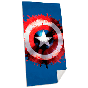 Toalla Marvel: Capitán América Algodón
