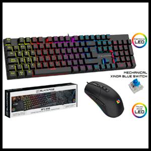 BlackFire PC Combo BFX 550 -Teclado Mecánico Blue Switch + Ratón RGB 8000DPI - Pack Gaming