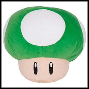 Peluche Super Mario: Seta 1up 16cm