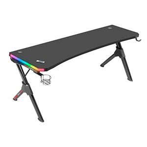 MARS GAMING MGDXL RGB GAMING DESK- 160CM- RGB CHROMA- MOUSEPAD- HOLDERS- BLACK - Mesa Gaming