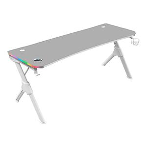 MARS GAMING MGDXL RGB GAMING DESK- 160CM- RGB CHROMA- MOUSEPAD- HOLDERS- WHITE - Mesa Gaming