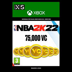NBA 2K22: 75,000 VC  XSX o XBOX ONE