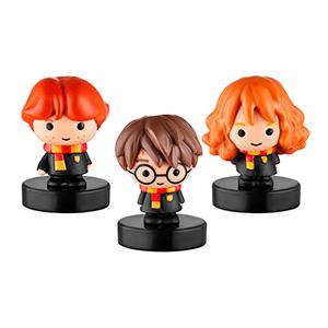 Pack de 3 Figuras con Sello Harry Potter