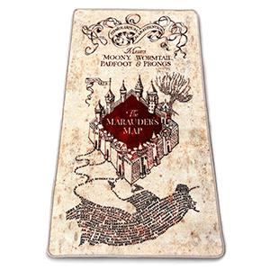 Alfombra Harry Potter: Mapa del Merodeador 76x133cm