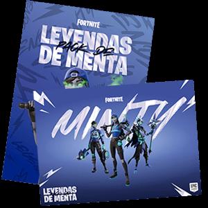 Fortnite Pack Leyendas de Menta - póster
