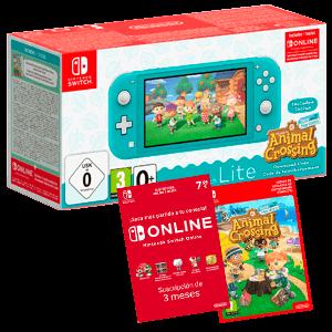 Nintendo Switch Lite Azul Turquesa + Animal Crossing + 3 Meses Nintendo Online (REACONDICIONADO)