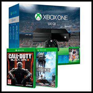 Xbox One 500Gb + Juego a elegir (COD: Black Ops III o Star Wars Battlefront)