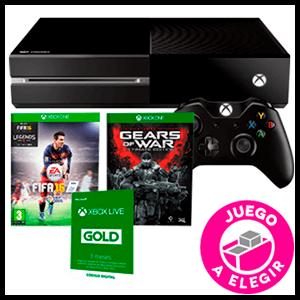 Xbox One 500Gb + Juego a Elegir (GOW Ultimate o FIFA 16) + 3 Meses Live Gold