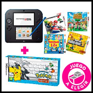 Nintendo 2DS + Juego a Elegir (preinstalado) + Pokemon Aventura entre las Teclas