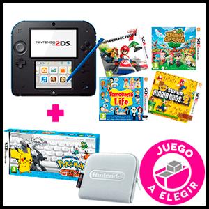 Nintendo 2DS + Juego a Elegir (preinstalado) + Pokemon Aventura Teclas + Funda
