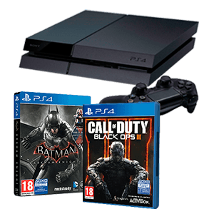 PlayStation 4 500Gb + Call of Duty Black Ops III + Batman Arkham Knight