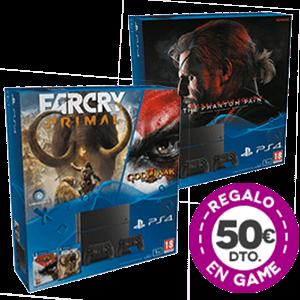 PS4 1Tb + 2 Dualshock 4 + 50€ de descuento en GAME