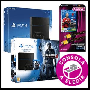 PlayStation 4 a Elegir + Pack Euro 2016 con Cable HDMI 4K