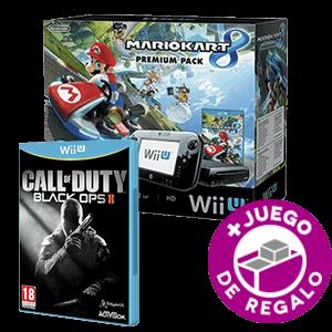WiiU 32Gb Negra + Mario Kart 8 + COD Black Ops II