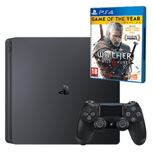 Playstation 4 Slim 500 Gb + The Witcher 3 GOTY