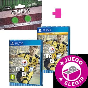 FIFA 17 PS4 (Edición normal o Deluxe) + Grips Sports