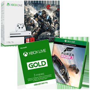 Xbox One S 1Tb a elegir + 3 meses GOLD + Forza Horizon 3