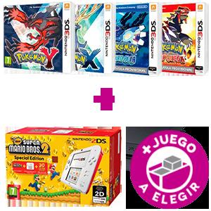 Consola Nintendo 2DS a Elegir + Juego Pokémon a Elegir