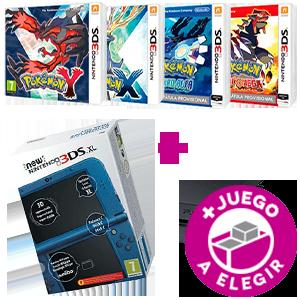 Consola New Nintendo 3DS XL a Elegir + Juego Pokémon a Elegir