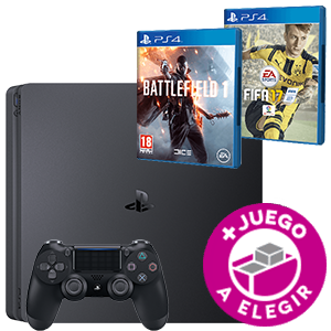Playstation 4 Slim 500Gb Negro + Battlefield 1 o FIFA 17