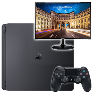 PlayStation 4 Slim 500Gb + Monitor Samsung C24F390