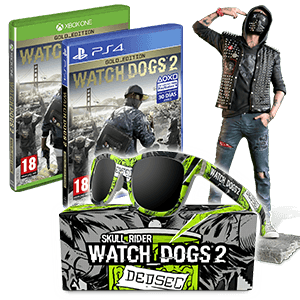Watch Dogs 2 GOLD Edition (PS4 o XONE) + Figura Wrench + Gafas de regalo