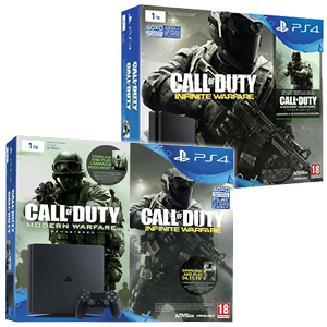 Plasytation 4 Slim 1Tb + COD Infinite Warfare + COD Modern Warfare Remastered